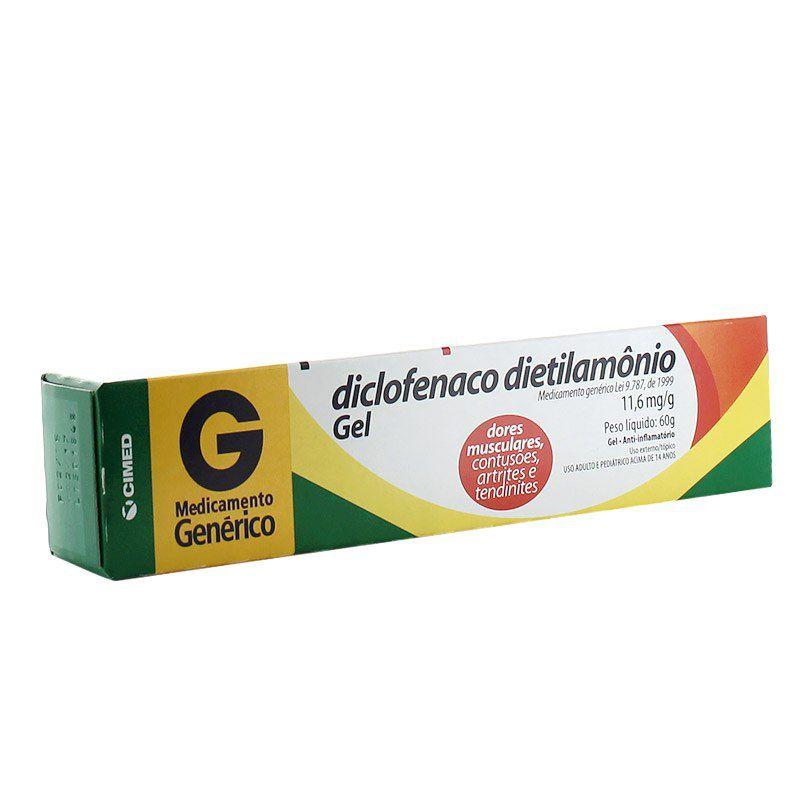 DICLOFENACO DIETILAMÔNIO GEL 60G - CIMED - GENÉRICO