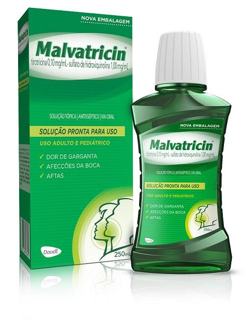 ENXAGUATÓRIO BUCAL MALVATRICIN 250ML