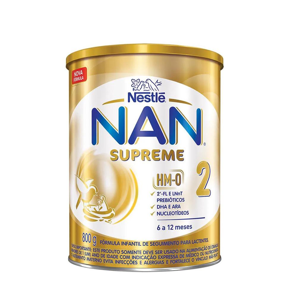 Fórmula Infantil Nan Supreme 2 800g - Crianças 6 a 12 Meses - Nestlé