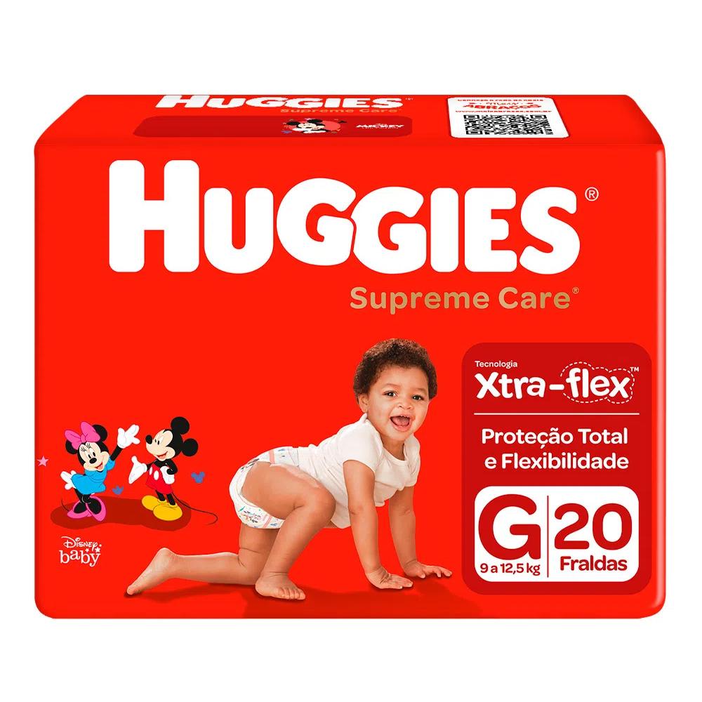 Fralda Huggies Supreme Care - Pacotão G com 20 Unidades