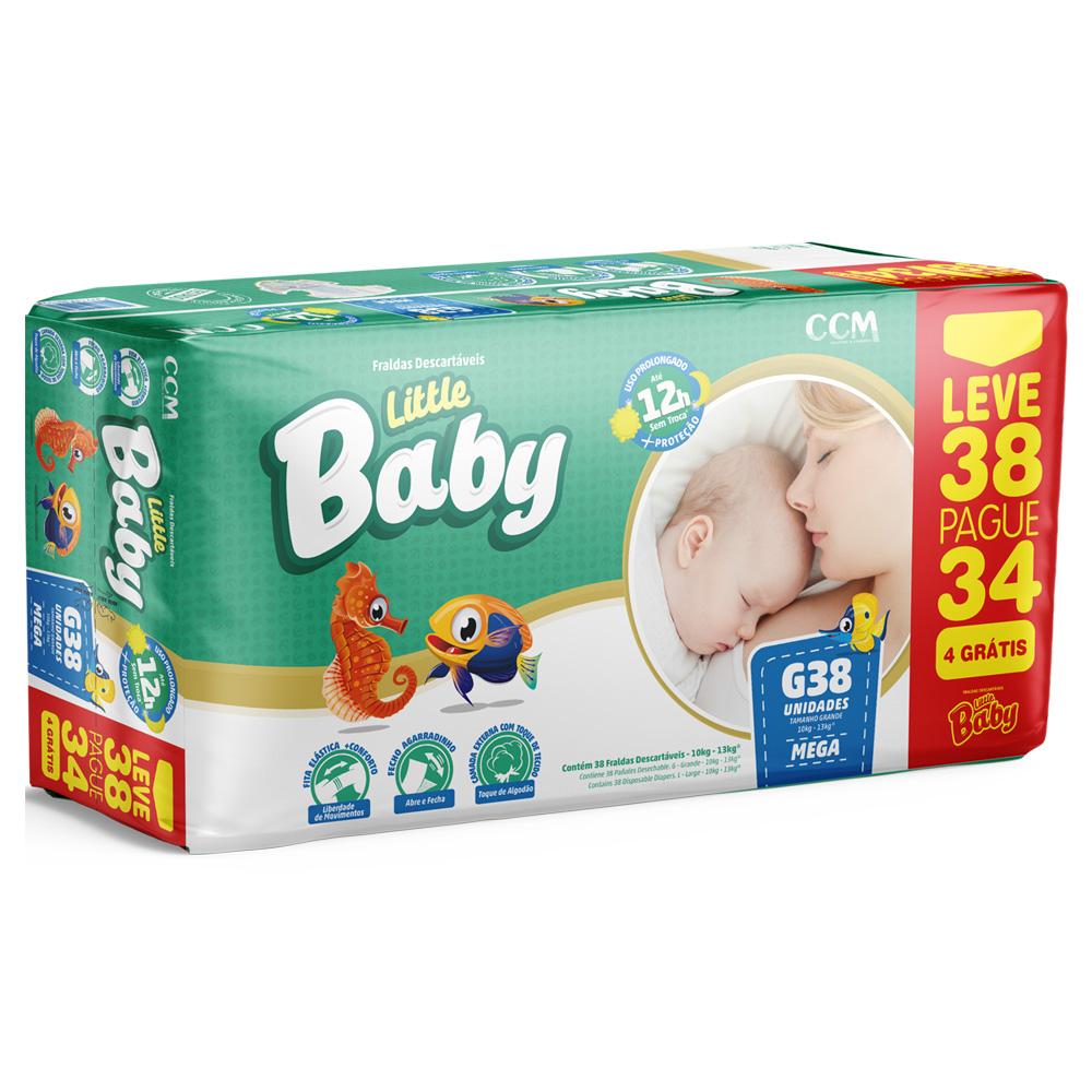Fralda Little Baby Tamanho G - 10 a 13kg - Leve 38 Pague 34 unidades