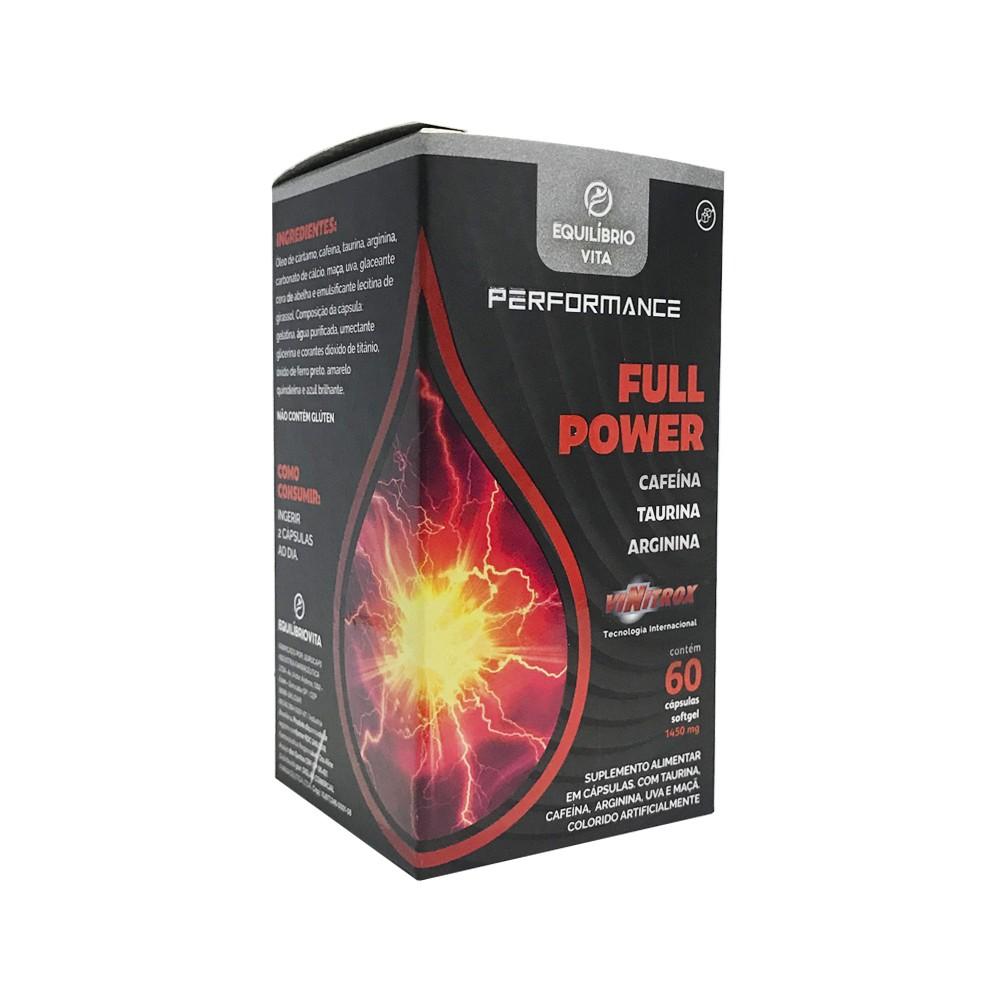 Full Power Vinitrox - Cafeína, Taurina e Arginina - Performance - 60caps - Equilíbrio Vita