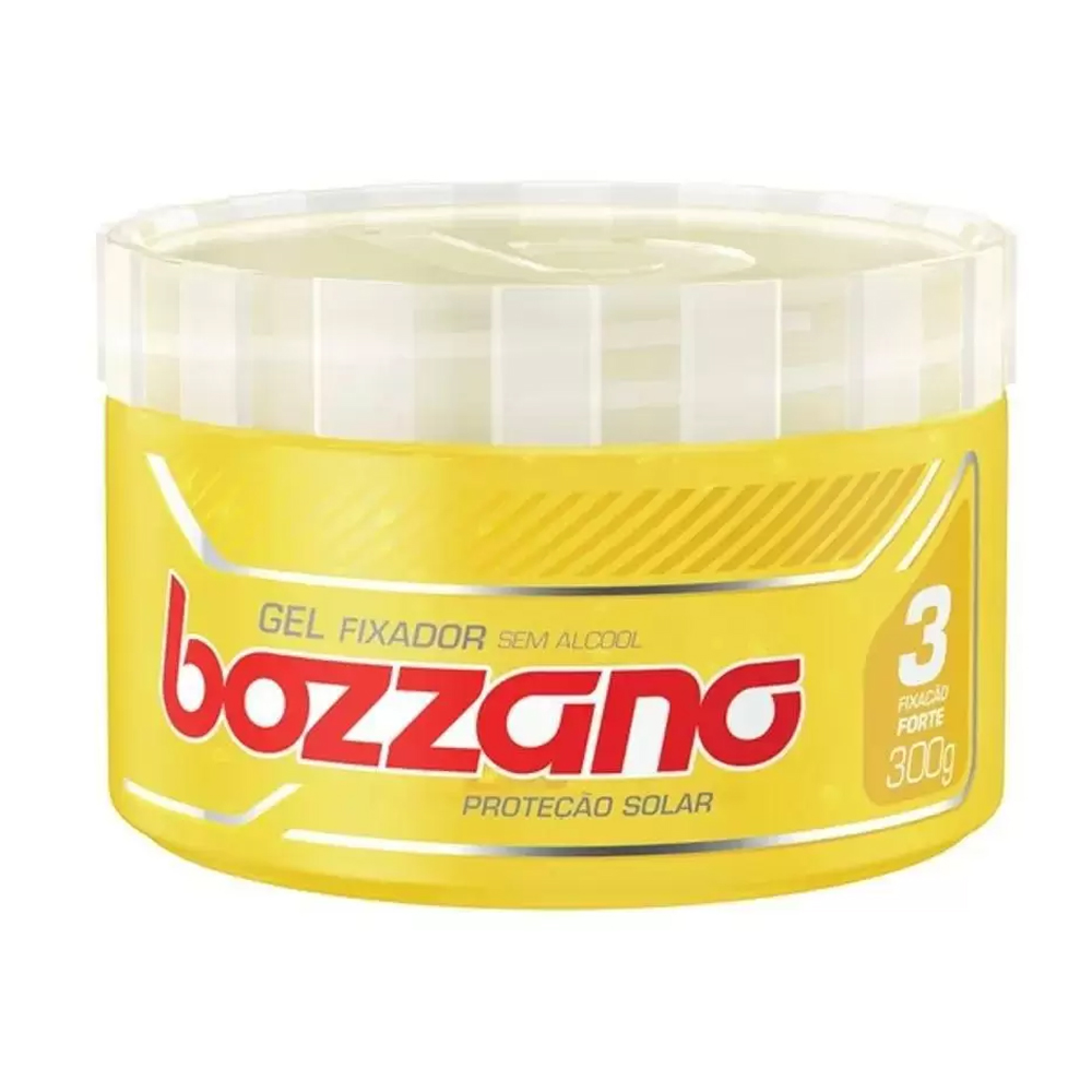Gel Fixador Bozzano Amarelo - Fixação 3 Forte - Sem Álcool com 300g