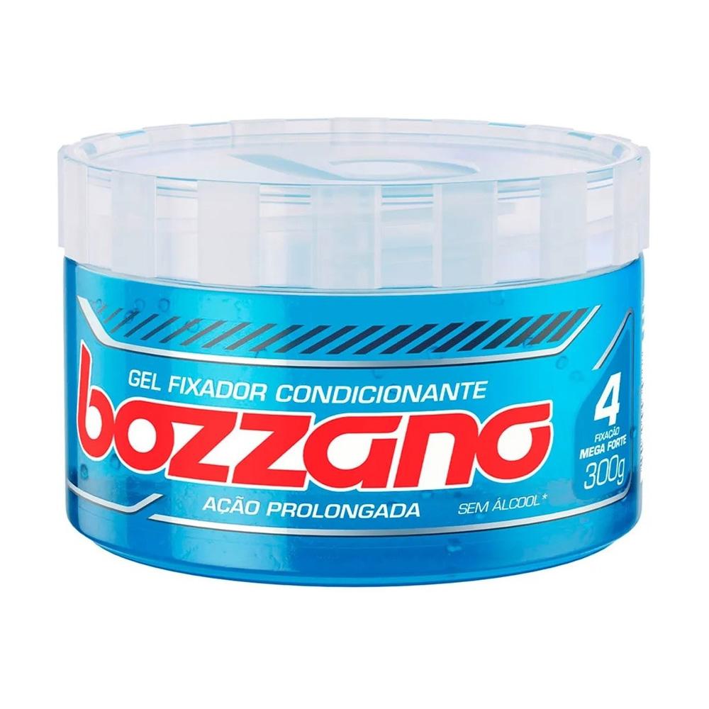 Gel Fixador Bozzano Azul - Fixação 4 Mega Forte - Sem Álcool com 300g
