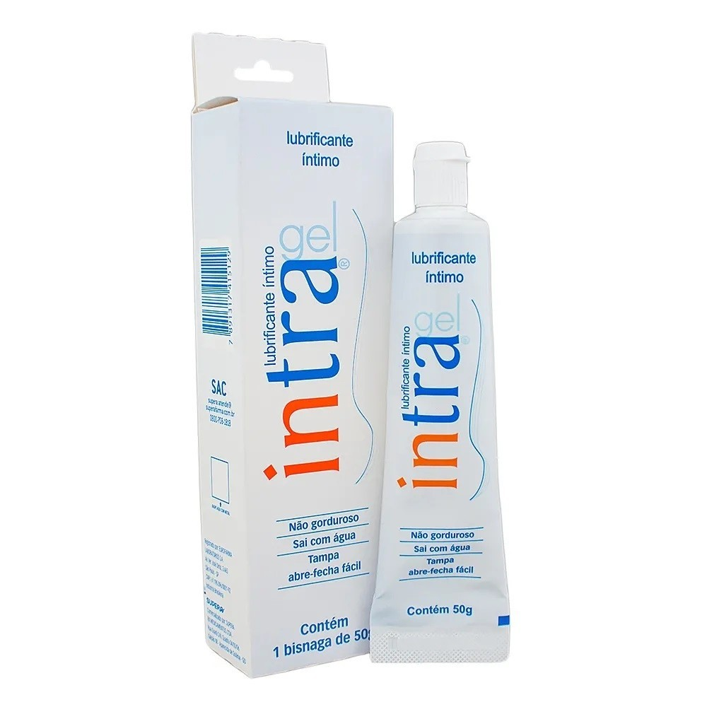 Gel lubrificante íntimo intra gel 50g