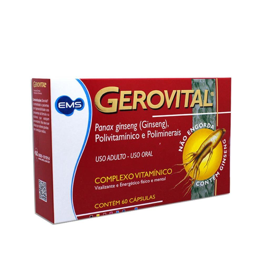 Gerovital - polivitamínico - panax - com 60 comprimidos