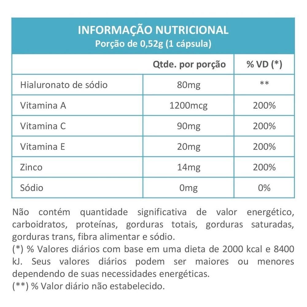 Hialuflex Ácido Hialurônico Bpm 80mg - c/ 60 Cápsulas - Maxinutri