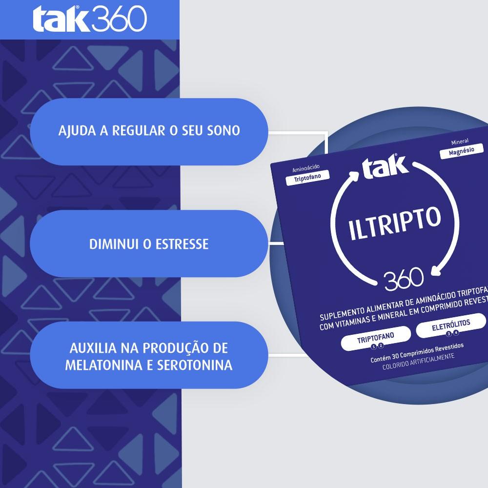 ILTRIPTO TAK 360 - TRIPTOFANO E ELETRÓLITOS - C/ 30 COMPRIMIDOS REVESTIDOS