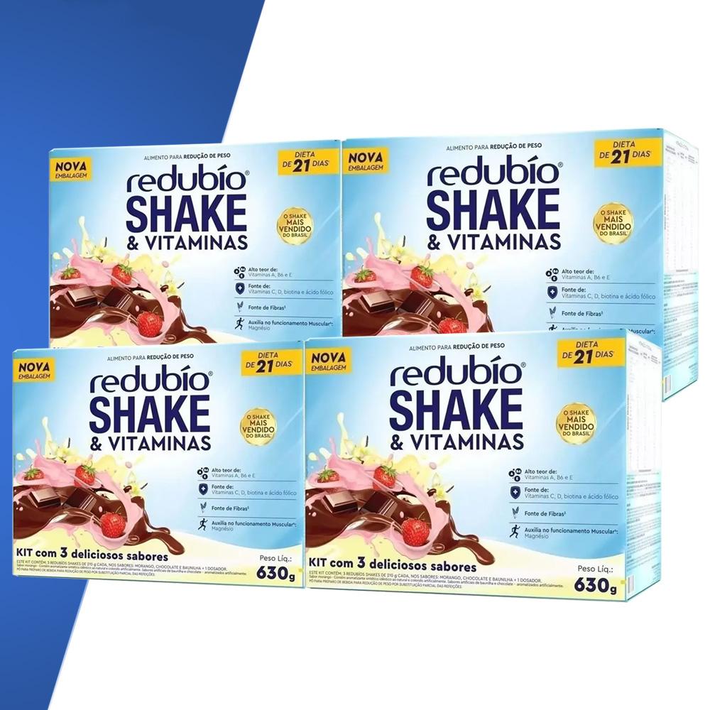 Kit c/ 4 Redubio Shake c/3 sabores