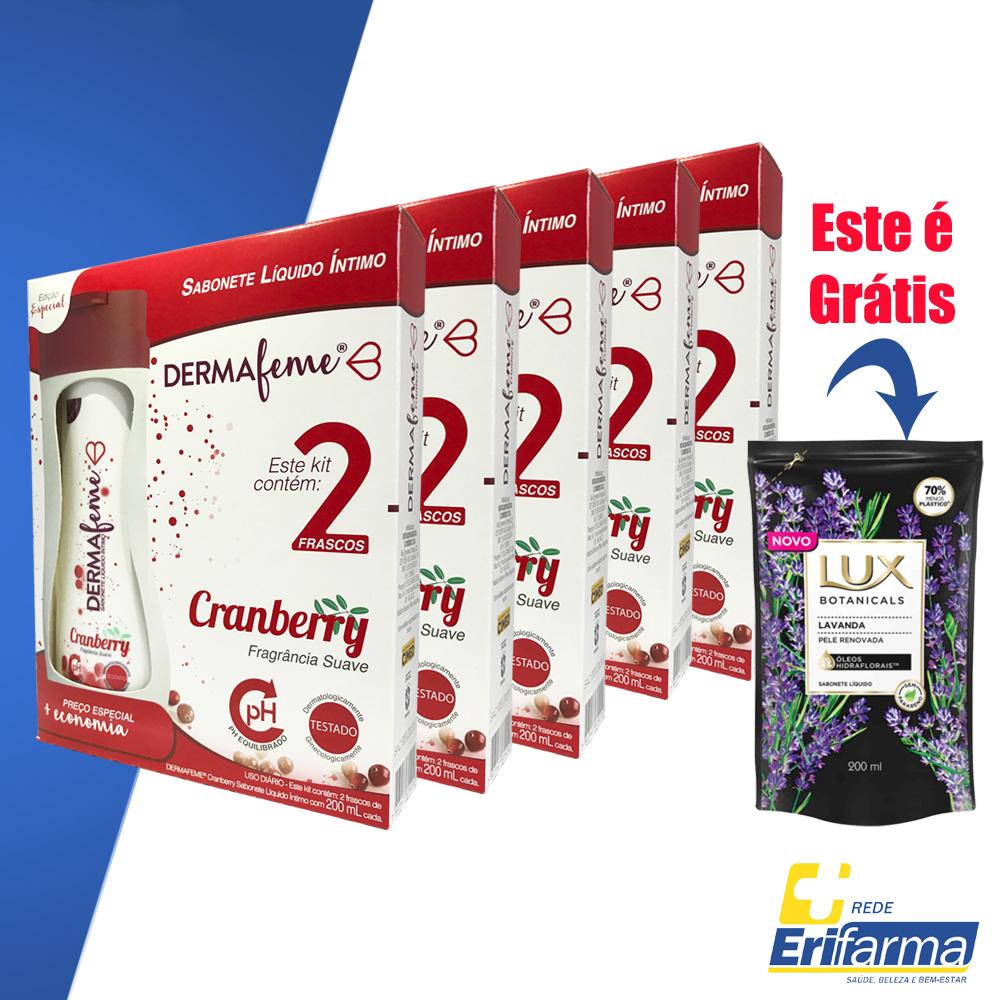 Kit Dermafeme - Compre 10 Sabonete Íntimo e Ganhe 01 Sabonete Líquido Lux Fragrância Lavanda