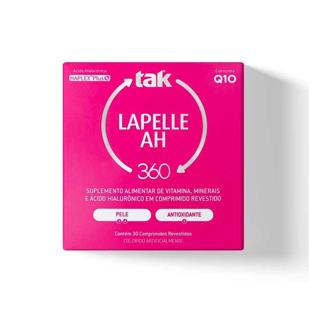 LAPELLE AH TAK 360 - PELE E ANTIOXIDANTE - C/ 30 COMPRIMIDOS REVESTIDOS