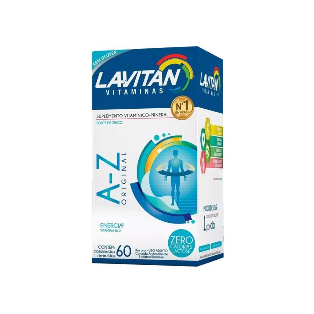 LAVITAN ADULTO - VITAMINAS DE A-Z COM 60 COMPRIMIDOS