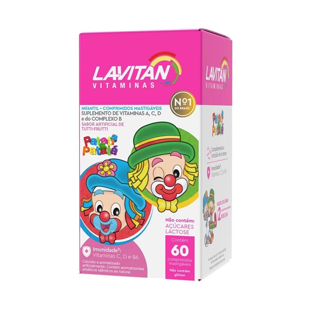 Lavitan Infantil - Vitamina Mastigáveis Sabor Tutti-Frutti com 60 comprimidos