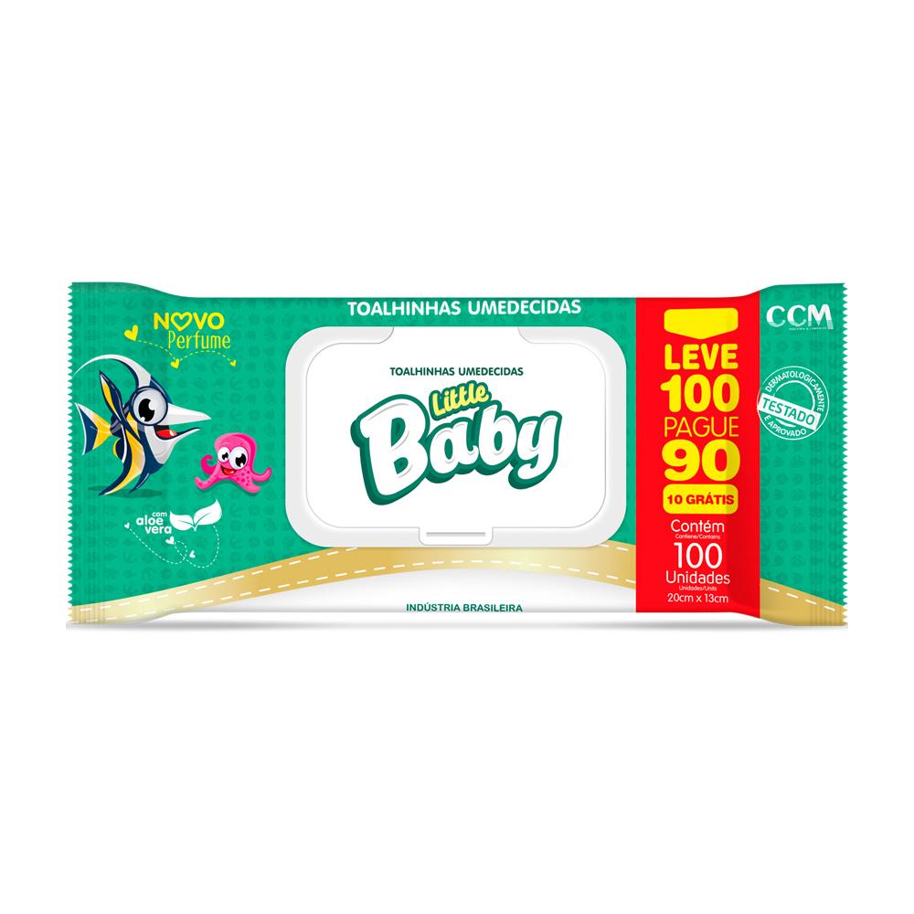 Lenços Umedecidos Little Baby - Leve 100 Pague 90 unidades