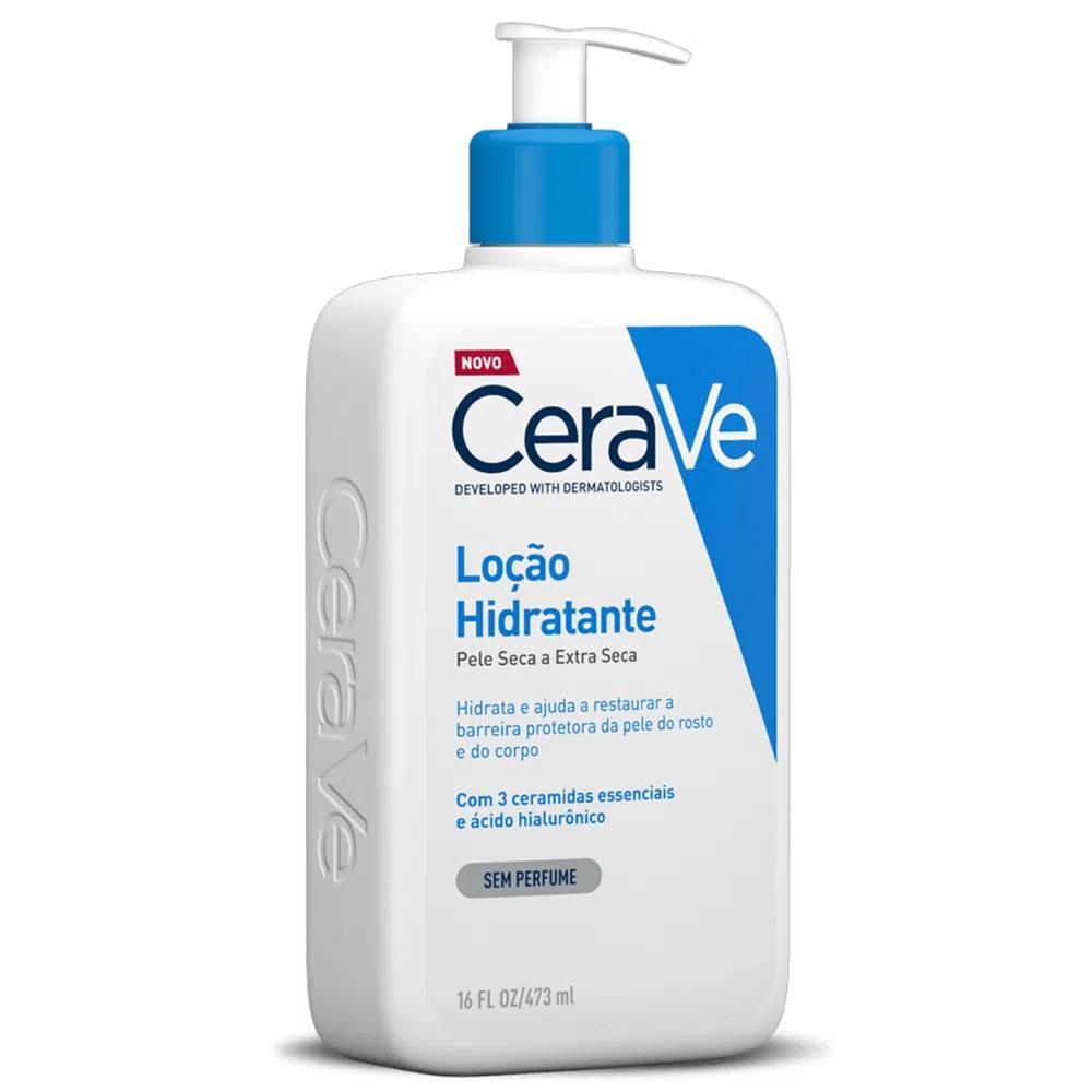 Loção Hidratante Corporal para Pele Seca e Extra Seca com Ceramidas e Ácido Hialurônico - 473ml - Cerave