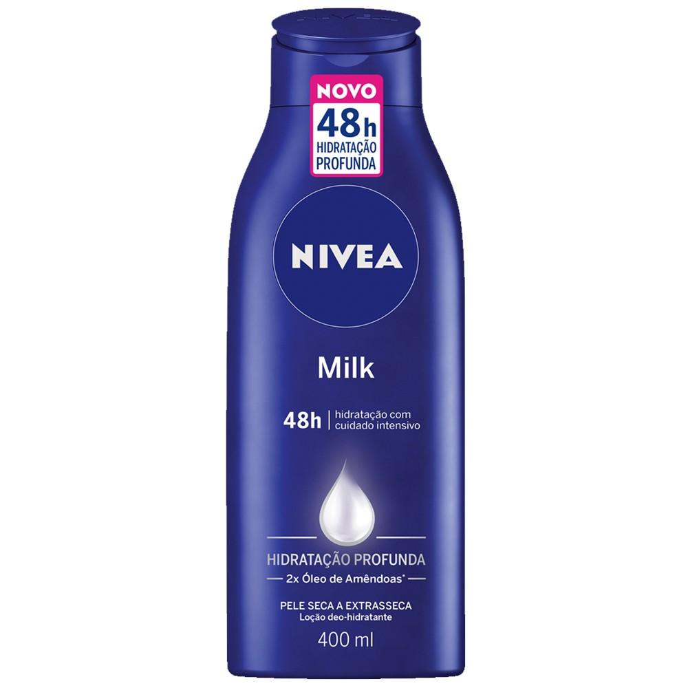Loção hidratante corporal nivea milk pele seca a extrasseca 400ml