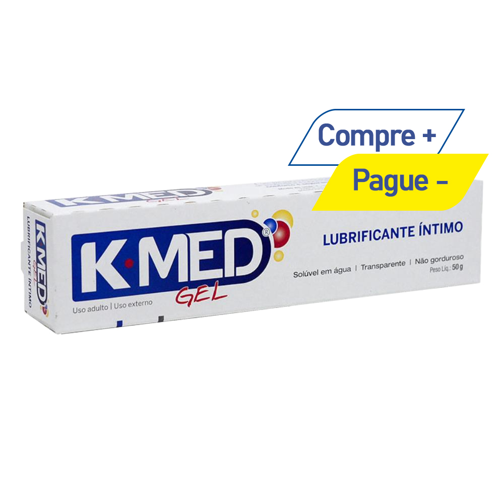Lubrificante Íntimo Sexual K-Med - Gel para Massagem - 50g