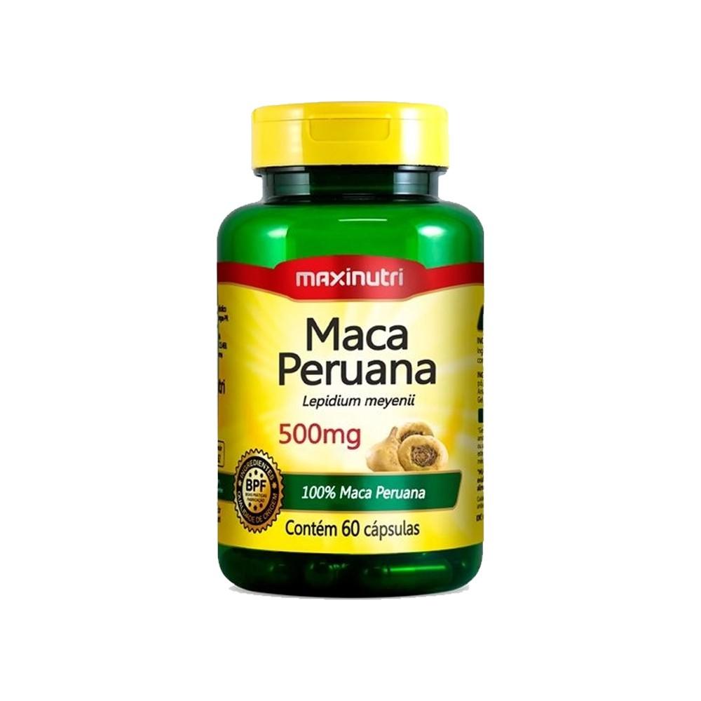 MACA PERUANA 500MG - C/ 60 CAPS - MAXINUTRI