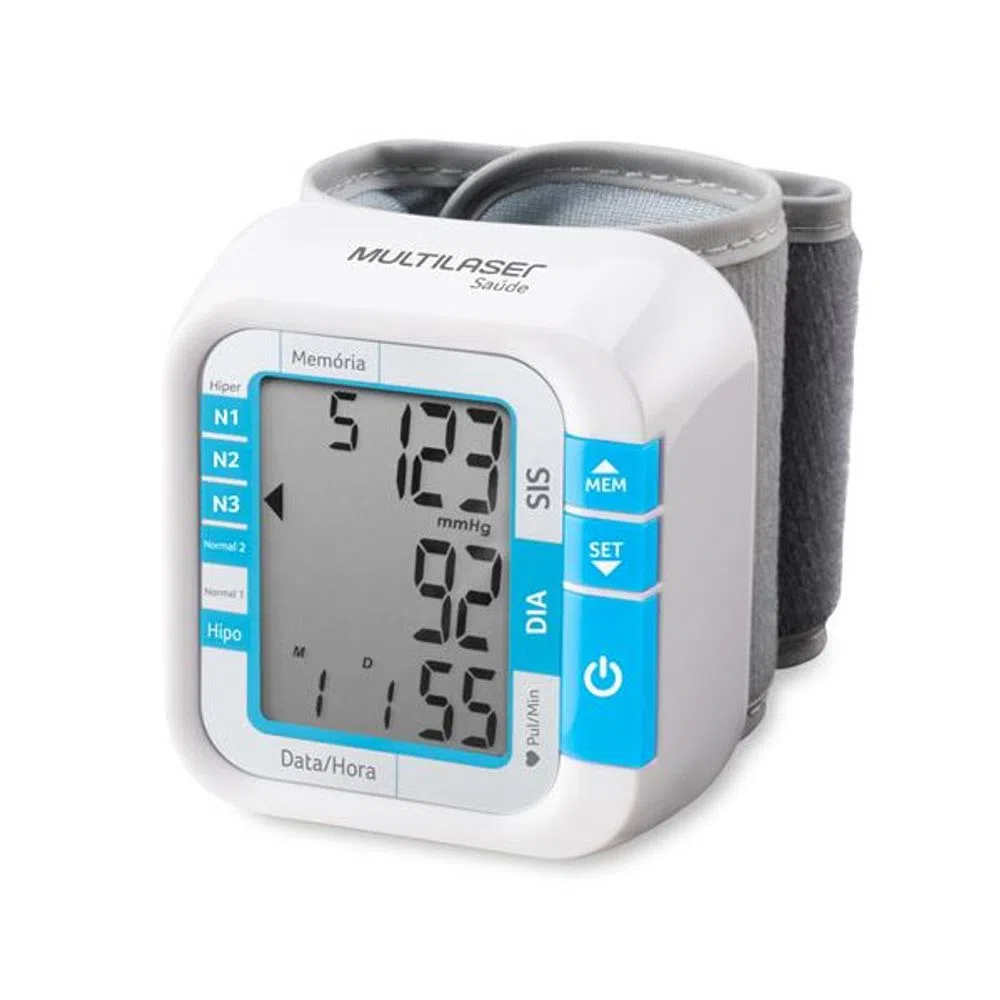 Monitor / Medidor de Pressão Arterial de Pulso - Multilaser Saúde - HC204