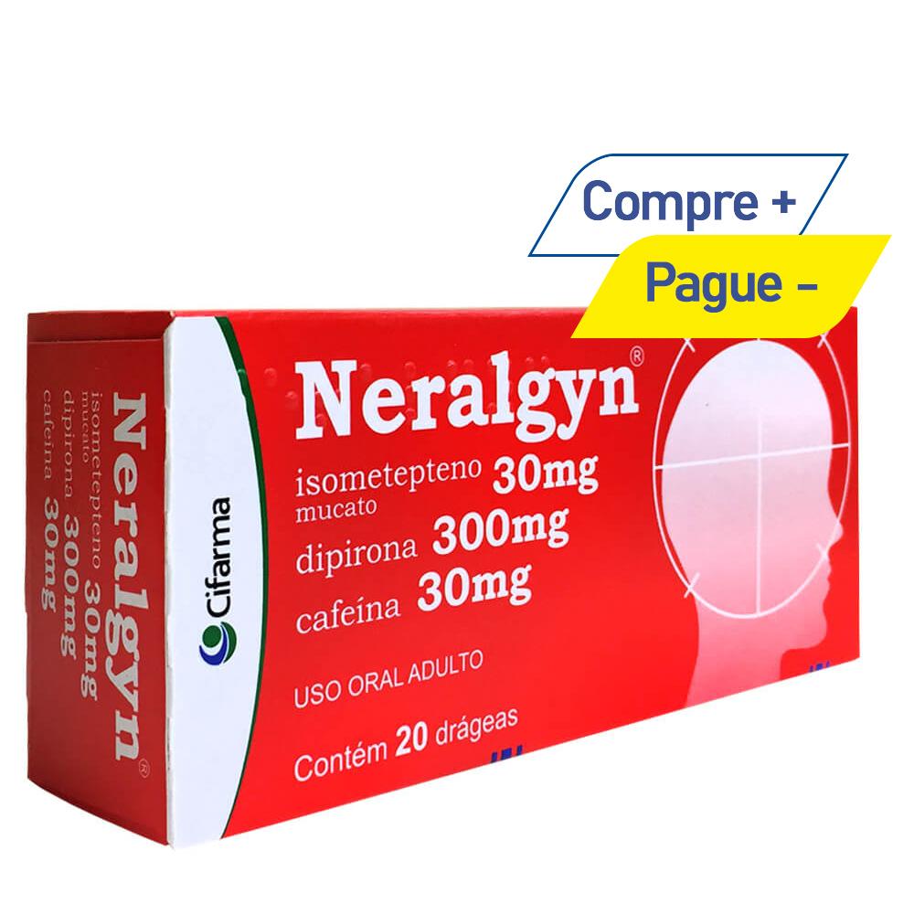 Neralgyn - Dor de Cabeça e Enxaqueca - com 20 Drágeas