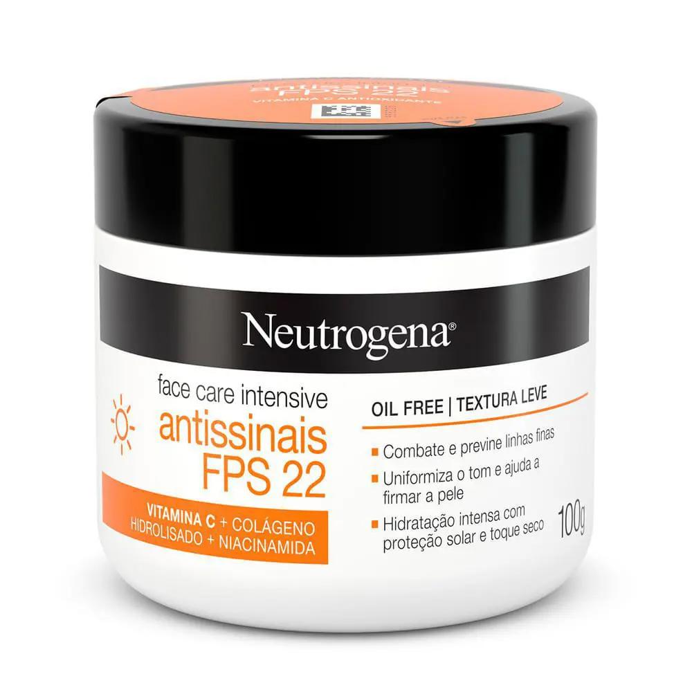 Neutrogena Face Care Intensive Antissinais FPS 22 Oil Free com Textura Leve 100g