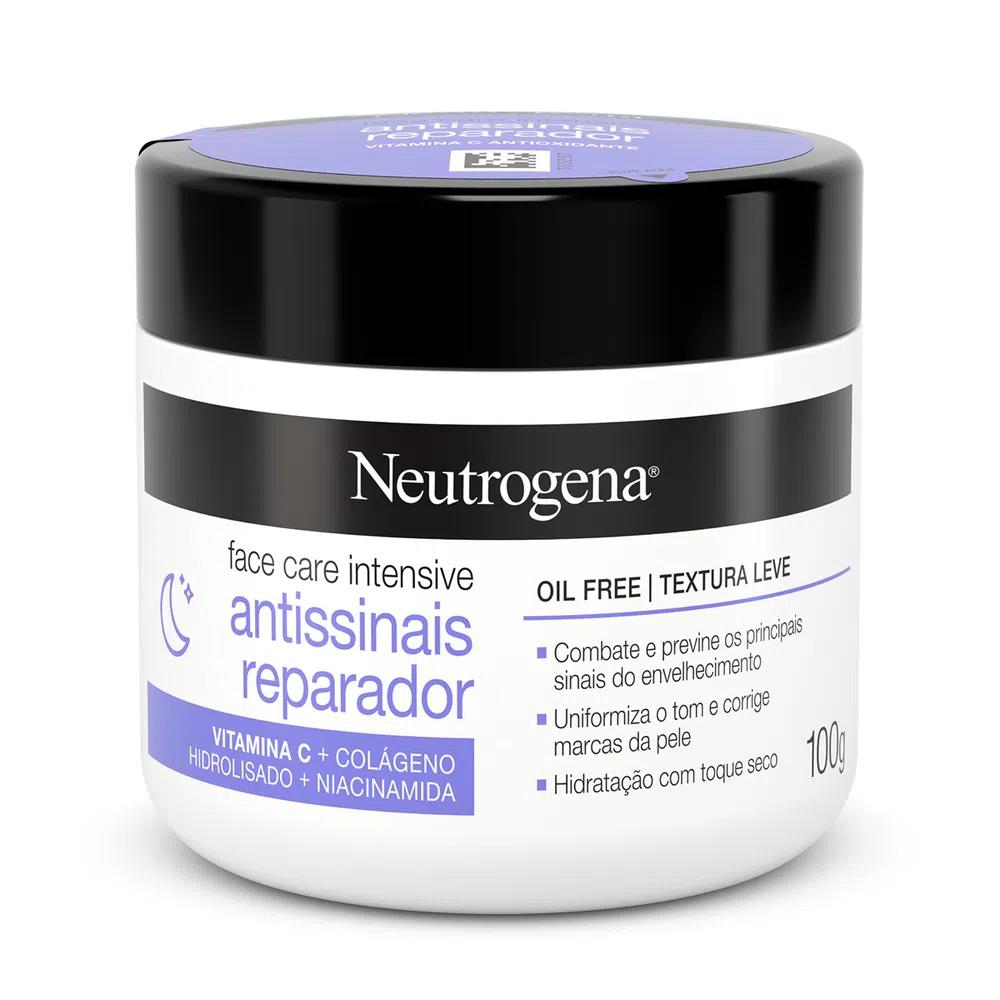 Neutrogena Face Care Intensive Noturno Antissinais Reparador Oil Free com Textura Leve 100g