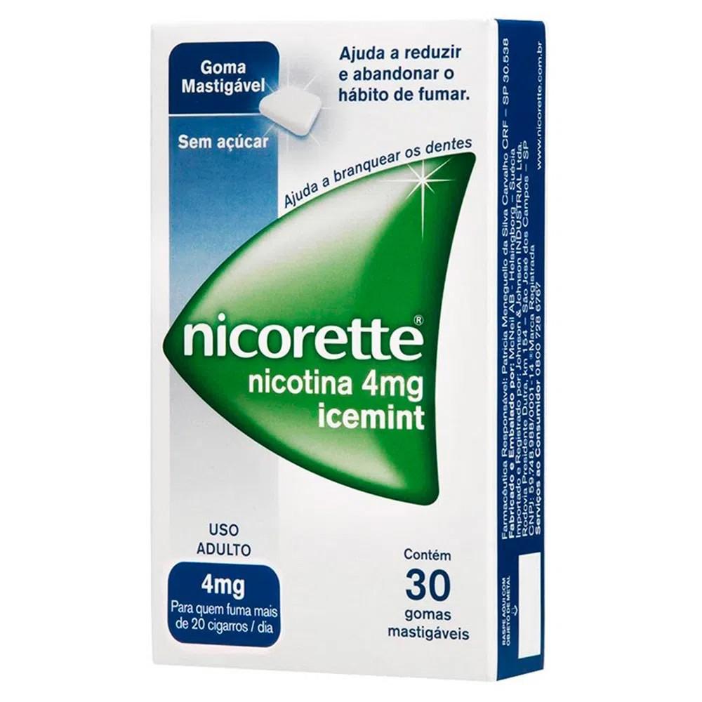Nicorette 30 Comprimidos Mastigáveis 4mg