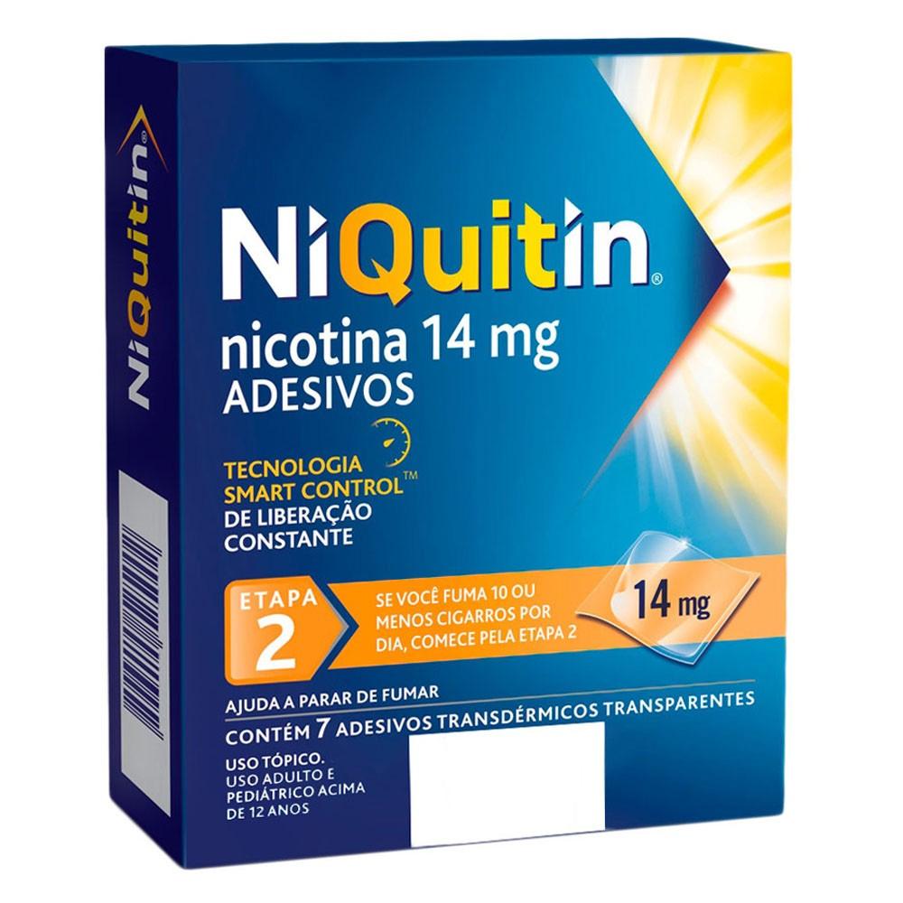 NiQuitin 14mg Adesivos para Parar de Fumar com 7 unidades  - Fase 2