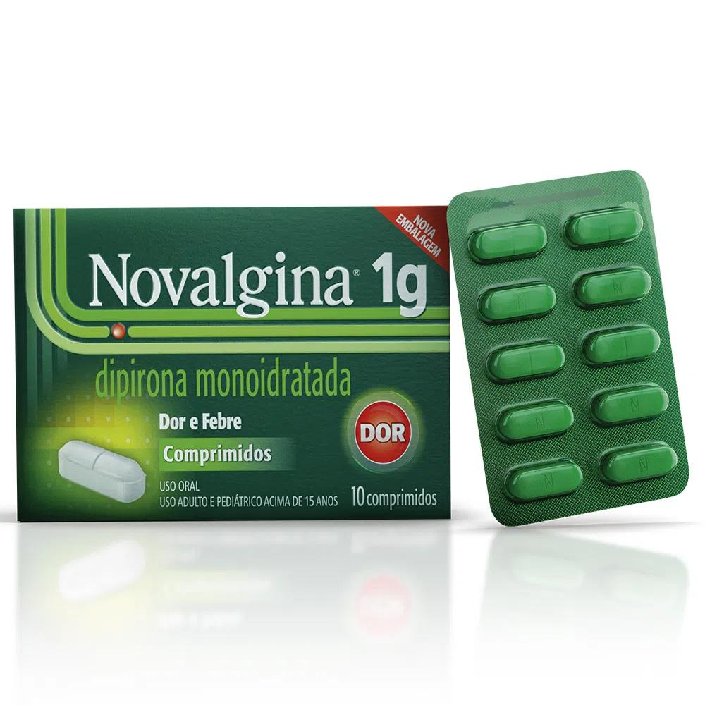 Novalgina 1g - Dor de Cabeça e Enxaqueca - com 10 comprimidos
