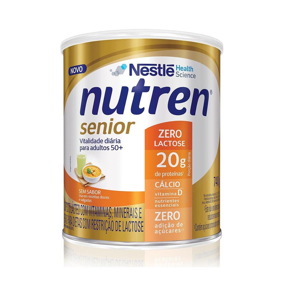 Nutren Senior Sem Sabor Zero Lactose 740G