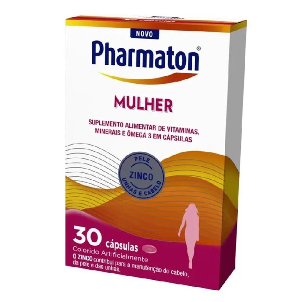 PHARMATON MULHER - SUPLEMENTO ALIMENTAR DE VITAMINAS MINERAIS E ÔMEGA 3 - COM 30 CÁPSULAS