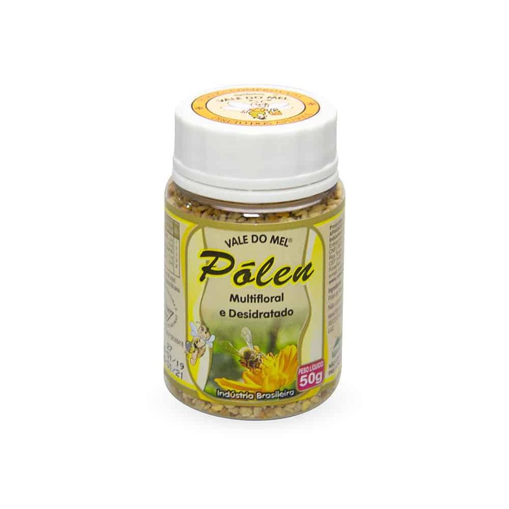 Pólen Multifloral e Desidratado - c/ 50g - Vale do Mel