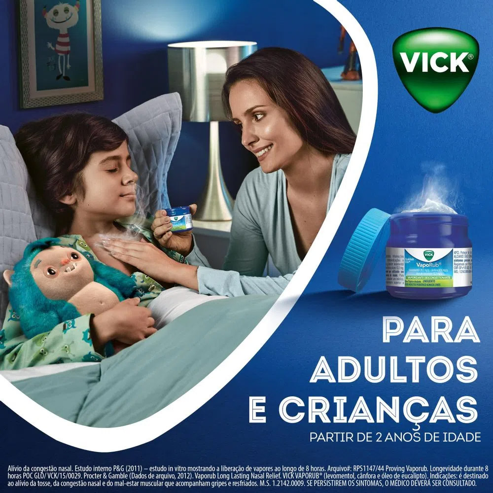 Pomada Vick Vaporub Unguento com 30g