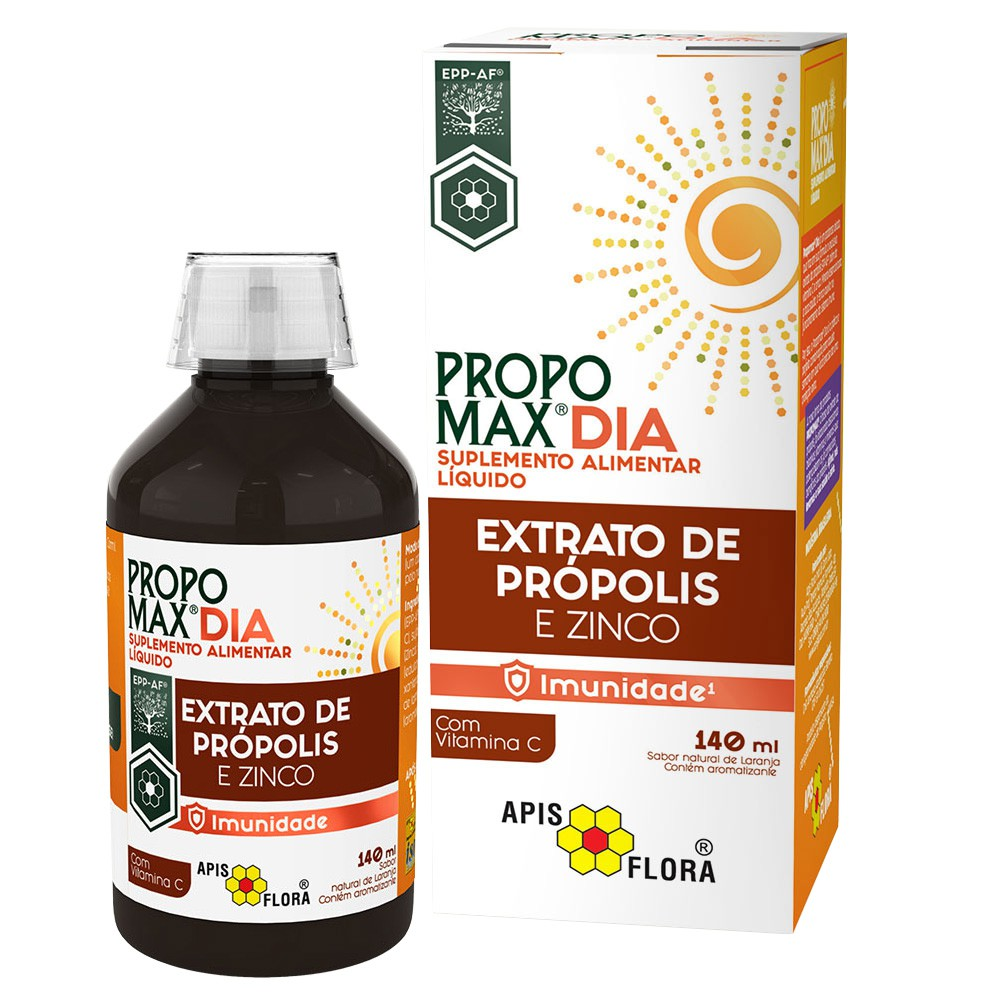 PROPOMAX DIA - EXTRATO DE PRÓPOLIS E ZINCO - 140ML - APIS FLORA