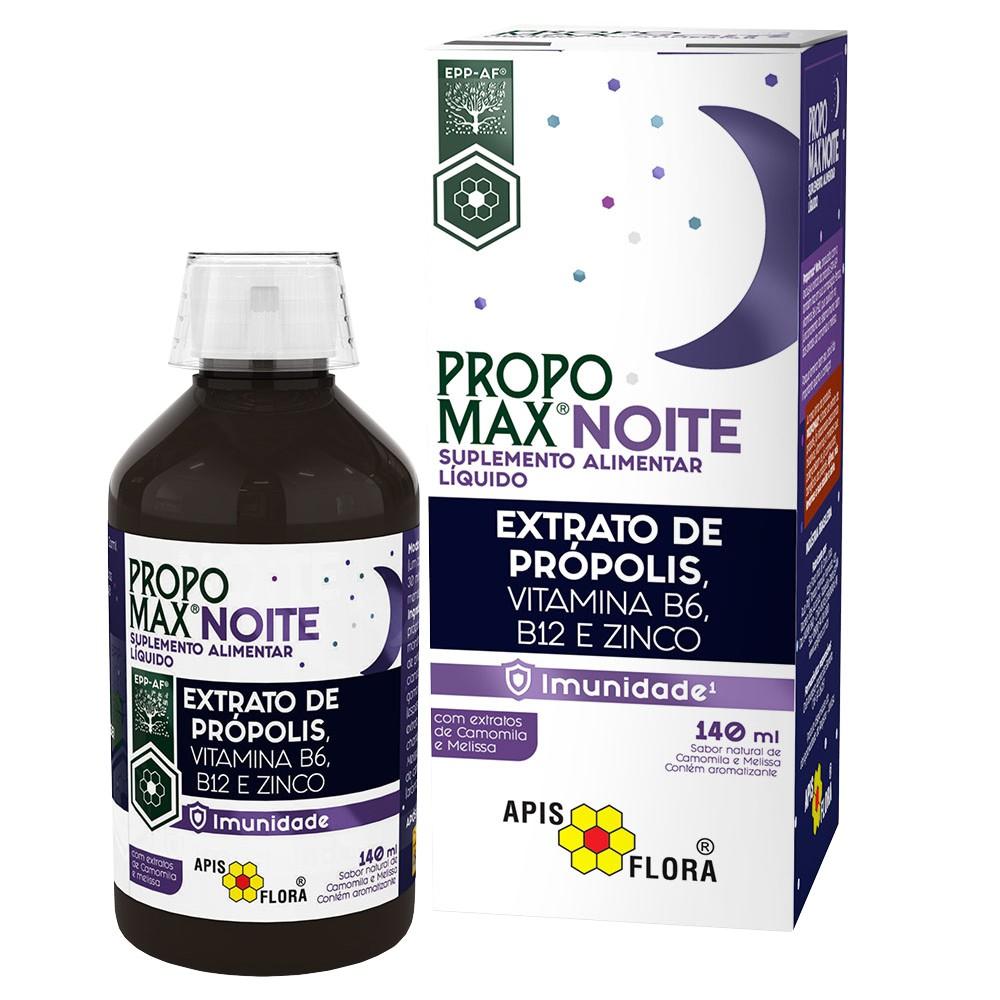 PROPOMAX NOITE - EXTRATO DE PRÓPOLIS E VITAMINA B6, B12 E ZINCO - 140ML - APIS FLORA
