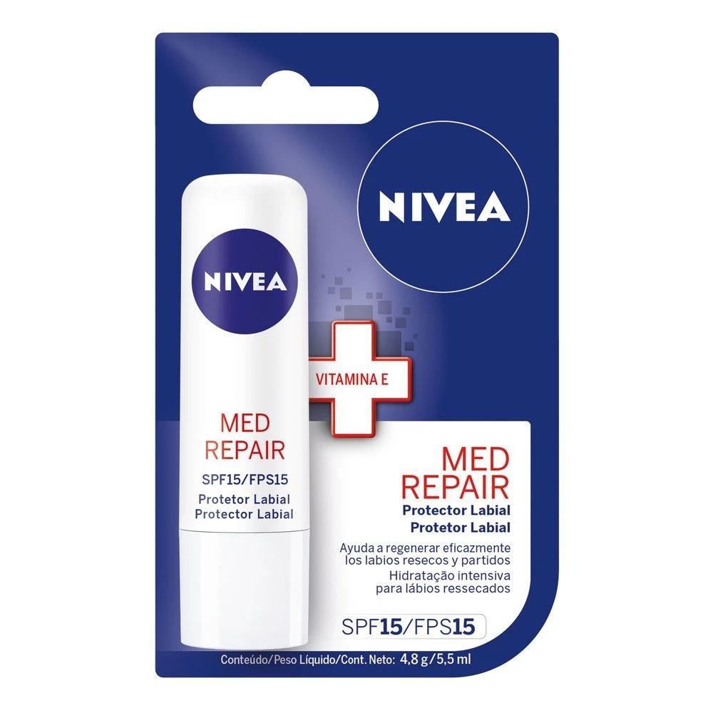 Protetor Labial Nivea Med Repair/Hidratação Profunda-24h - 4,8g