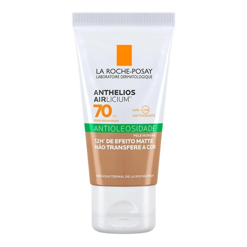 Protetor solar anthelios airlicium fps70 gel creme pele morena 50g - efeito matte