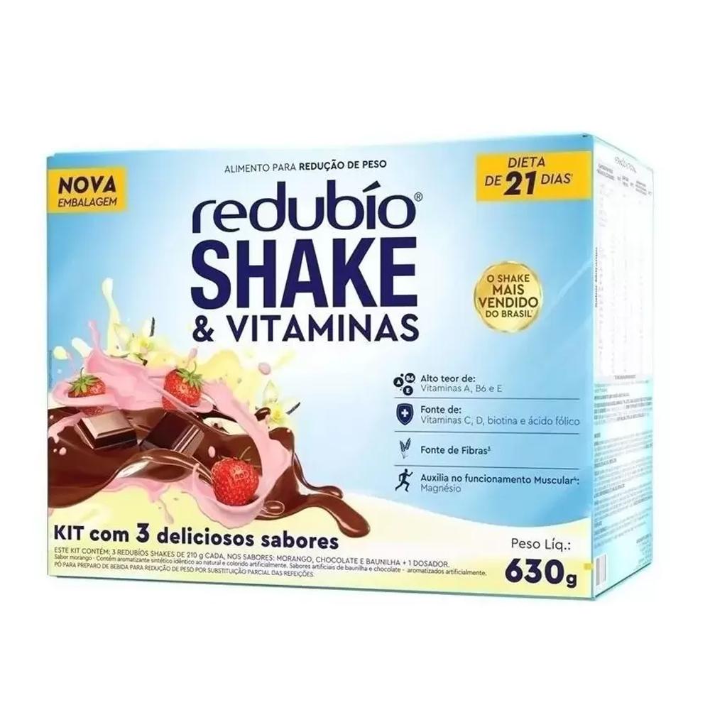 Redubío Shake e Vitaminas Kit com 3 Sabores 630g