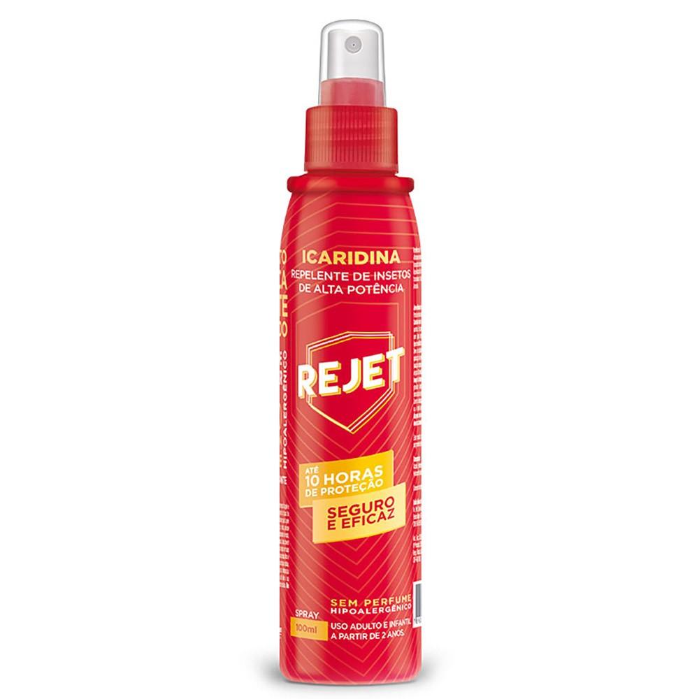 Repelente hipoalergênico de inseto de alta potência em spray - sem perfume e com icaridina - adulto e infantil - 100ml
