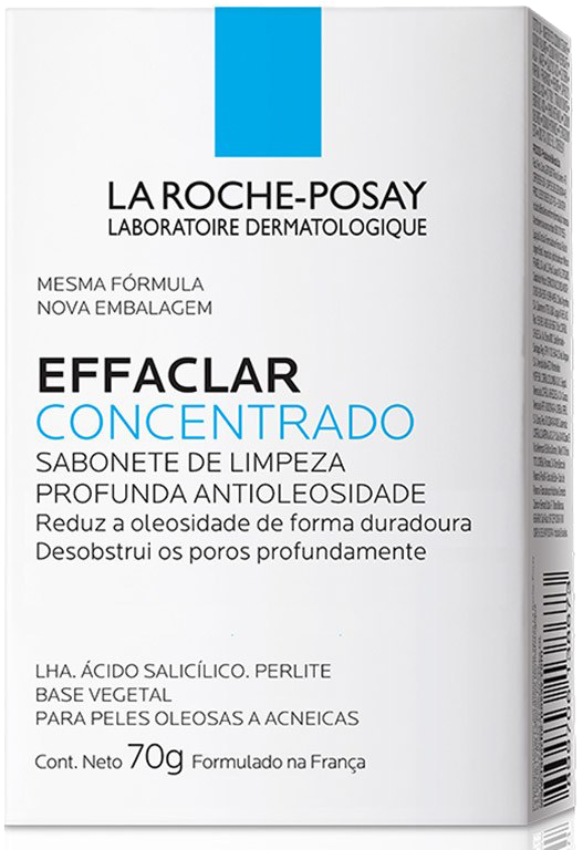 SABONETE FACIAL EFFACLAR CONCENTRADO LA ROCHE-POSAY 70G