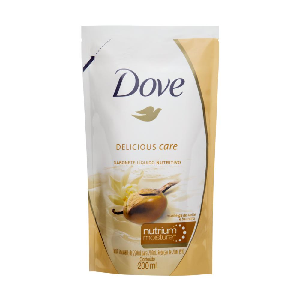 Sabonete Líquido Dove Manteiga de Karité e Baunilha 200ml - Refil
