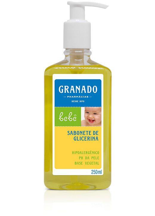 SABONETE LÍQUIDO GRANADO DE GLICERINA PARA BEBÊ 250ML