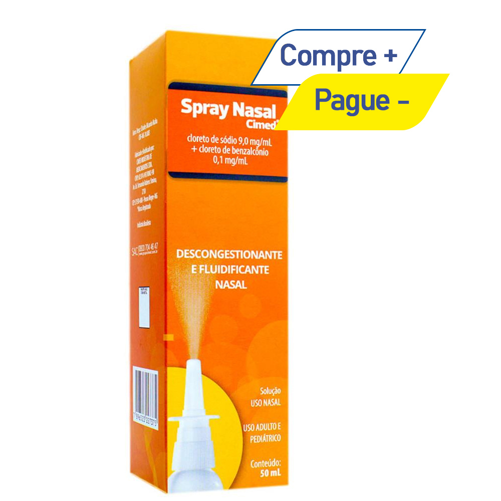 Spray Nasal 9mg/ml com 50ml - Desongestionante Nasal - Cimed