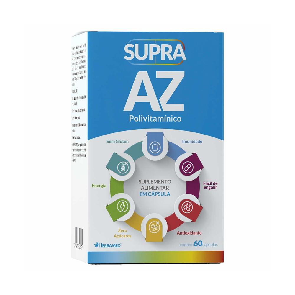 Supra A-Z Polivitamínico - com 60 Cápsulas - Herbamed
