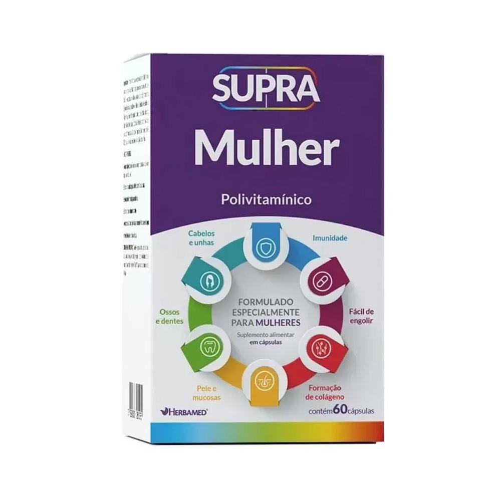 Supra Mulher - Polivitamínico - com 60 Cápsulas - Herbamed