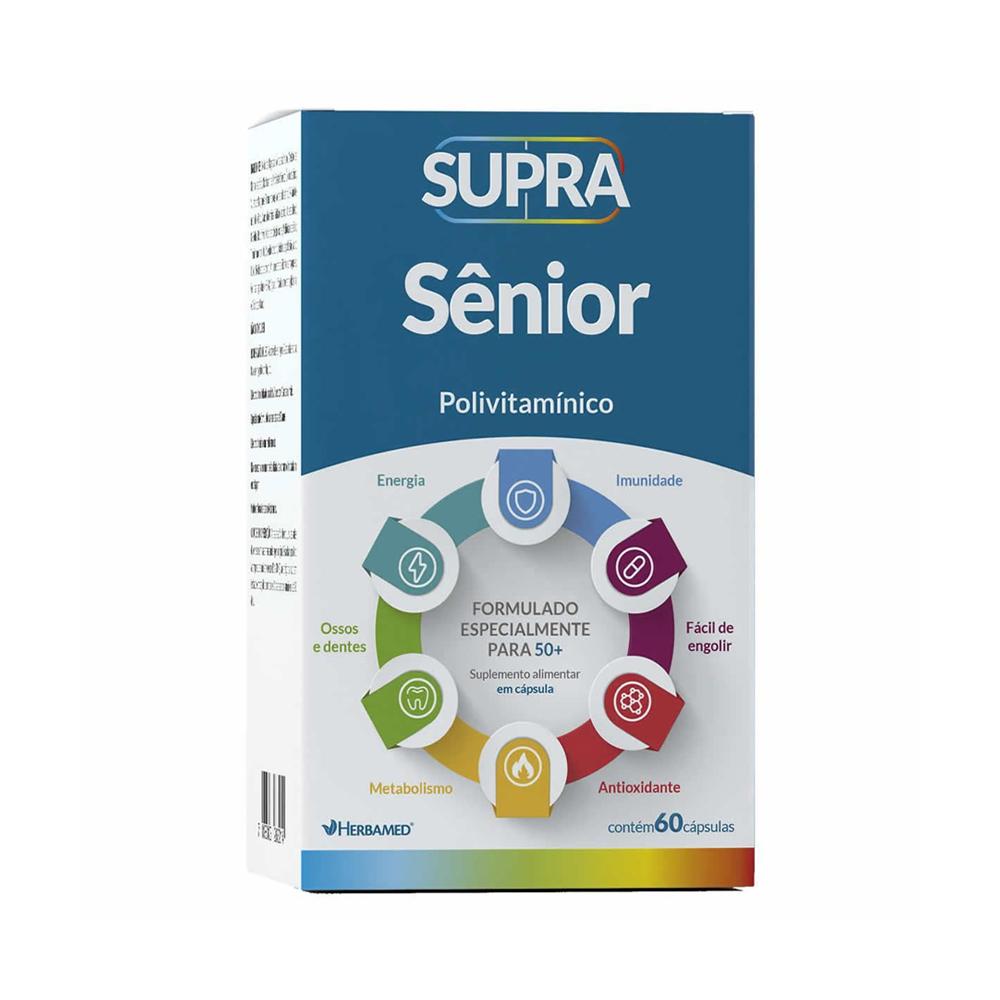 Supra Senior - Polivitamínico - com 60 Cápsulas - Herbamed