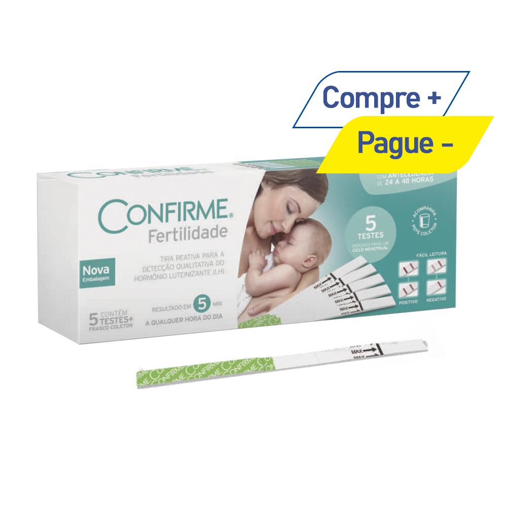 Teste de Fertilidade Feminina com 5 Testes - Confirme