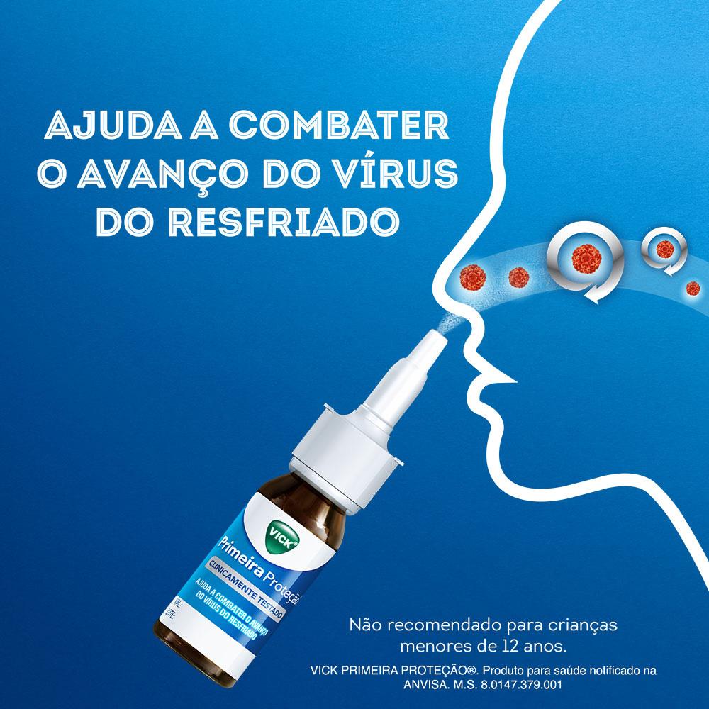 Vick Primeira Proteção - Alívio Sintomas do Resfriado - c/ 15ml