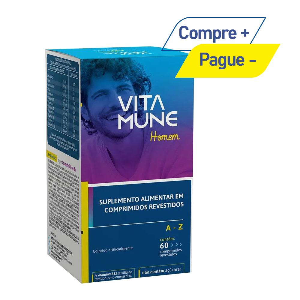Vita Mune Homem - Suplemento Vitamínico-Mineral de A-Z com 60 Comprimidos - Cimed