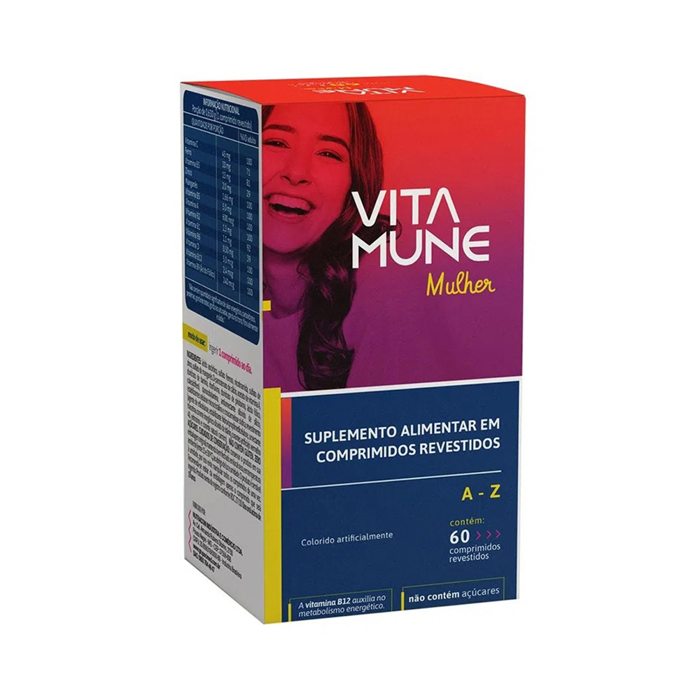 Vita Mune Mulher - Suplemento Vitamínico-Mineral de A-Z com 60 Comprimidos - Cimed
